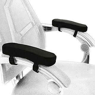 Bürostuhl Armlehnen Kissen, Fusphop Armlehnenkissen für Heimstuhl und Rollstuhl, Universal-Memory-Schaum-Armlehnenpolster, Armstuhlbezüge für Unterarm-Druckentlastung(schwarz 2er Set)