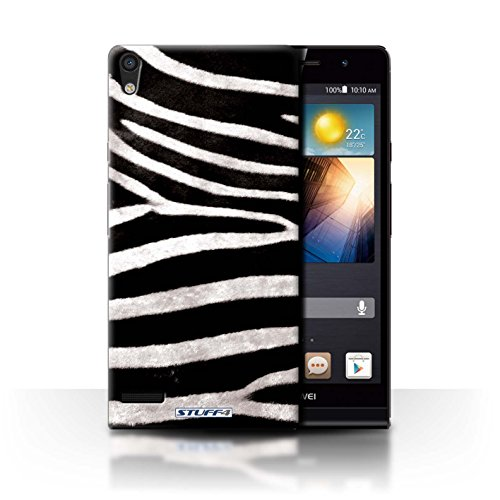 Stuff4® Hülle/Hülle für Huawei Ascend P6 3G / Zebra Muster/Tierpelz Muster Kollektion 3g-zebra