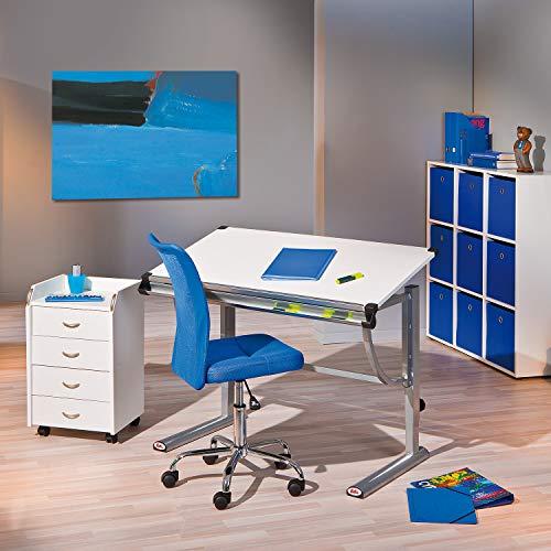 Links Sedia Ufficio Office.Inter Link Sedia Ufficio Base Metallo Rivestimento Tessuto Mesh Blu