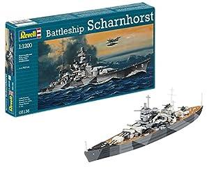Revell-5136 Scharnhorst, Color Gris Militar (05136)
