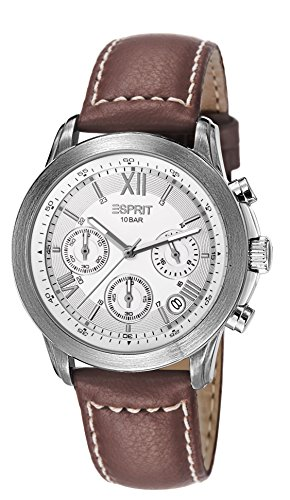 Esprit Herren-Armbanduhr Doug Oriental Chronograph Quarz Leder ES900751001