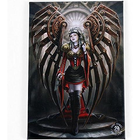 Anne Stokes Avenger Steampunk con ali d'angelo, colore: nero, Rosso, stile gotico