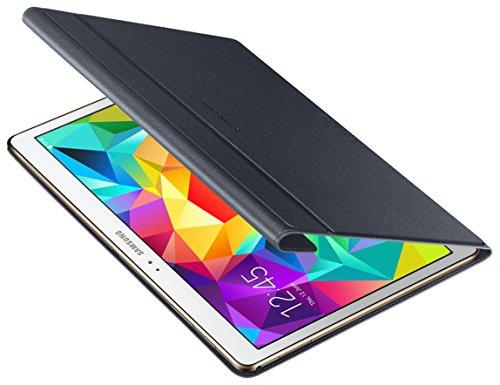 Samsung Folio Schutzhülle Book Case Cover für Galaxy Tab S 10.5 Zoll - Schwarz (Klare Schutzhülle Book Cover)