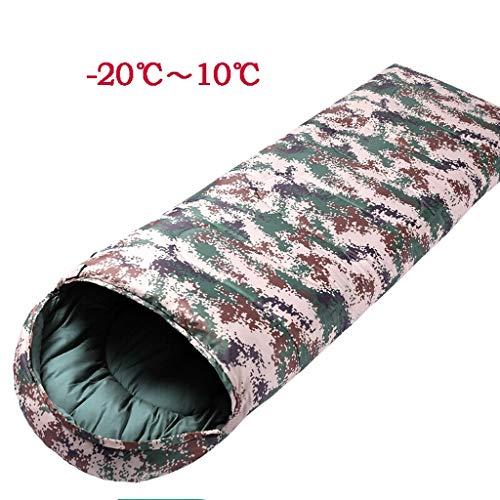 Zéro dix degrés Sac de Couchage en Plein air Camouflage Chaud Peut être épissé Coton Anti-Sale Camping 210 * 80 cm