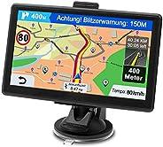GPS Navi Navigationsgerät für Auto, Navigation für Auto PKW LKW Navi 7 Zoll Kostenloses Kartenupdate mit Freis