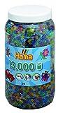 Hama 211-54 - Bügelperlen Dose mit ca. 13.000 Perlen, transparent mit Glitter