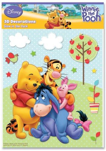 FUN HOUSE - 711591 - Ameublement et Décoration - Stickers en Relief et Photoluminescents - Disney Winnie The Pooh