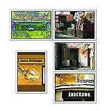 tom bäcker Postkarten Set/Konvolut - 5 Karten Schöne Sprache - Worte - Sprüche - Umzug - umziehen - Veränderung - Einweihung - Geschenk - Reise (5 Karten)