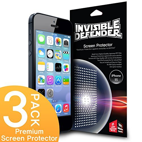 Ringke Rearth Invisible Defender - Apple Iphone 5 / 5S / 5C Screen Protector With The...