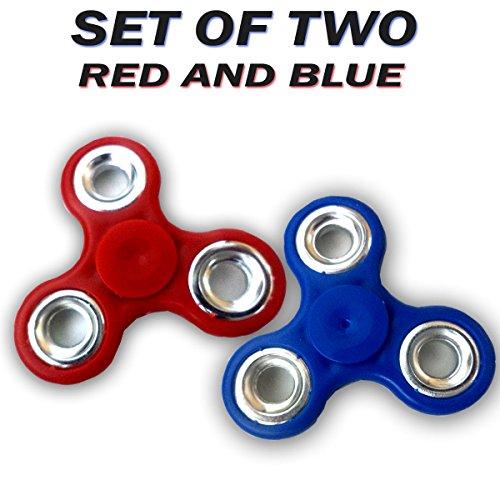 Art N Soul Fidget Spinner Toy for Kids & Adults ,Red & Blue