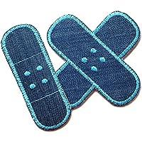 Set Jeansflicken Hosenpflaster Bügelflicken für Kinder/Erwachsene