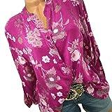 togel Damen Stehkragen Button Printed Long Sleeves Plus Size Oberteile Loose Shirt Bluse Damen Pullover Damen Longpullover Weihnachtspullover Strickpullover Sweatshirt Oversize
