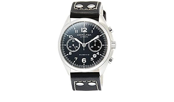 0a7d79ed1 Buy Hamilton Khaki Aviation Pilot Pioneer Auto Chrono Men's Watch H76416735  Online at Low Prices in India - Amazon.in