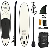 HIKS Black 10ft / 3m Stand Up Paddle SUP Board Set Inc Paddle, Pump, Backpack & Leash Suitable all Abilities Ideal Beginners Inflatable Paddleboard Kit