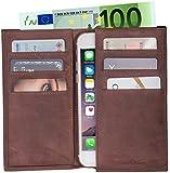 LUCA iPhone 6 / 6S Tasche Handmade in Germany Nubuk Vintage Choco Echtleder Etui für Ihr iPhone 6 / 6S