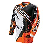 O'Neal Element Kinder MX Jersey Shocker Orange Motocross Enduro Cross Motorrad Downhill Shirt, 0025S-40