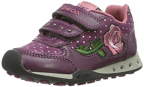 Geox JR NEW JOCKER GIRL Mädchen Low-Top Sneaker Violett (DK PURPLEC8016)