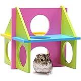 Mascota Pequeña Hamsters Ardillas Fun Gimnasio Casa hámster accesorios