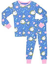 Disney Beauty & The Beast Girls Mrs Pots & Chip Pyjamas - Snuggle Fit - Ages 2 To 10 Years