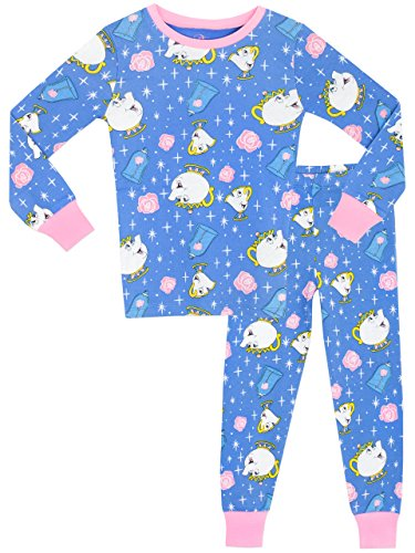 Beauty-the-Beast-Girls-Mrs-Pots-Chip-Pyjamas-Snuggle-Fit-Ages-2-to-10-Years