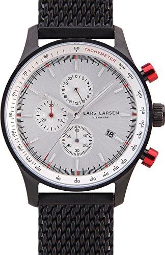 Lars Larsen 133CWCM - Reloj para Hombres, Correa de Acero Inoxidable Color Negro