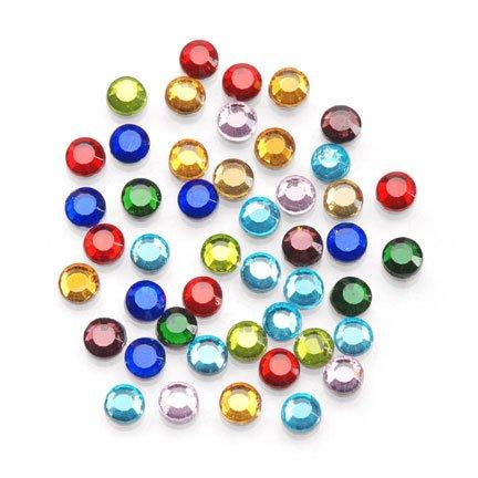 Darice - Strass abbellimenti 4mm, confezione 750 pezzi -Multi pietra di vetro - Vetro Abbellimenti