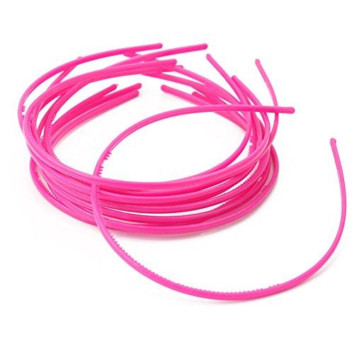10X Bandeaux Serre-tête Bande En Plastique de Cheveux Fille Femme Rosé Rouge