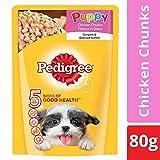 #9: Pedigree Puppy Chicken Chunks Flavour in Gravy, 80g Pouch (Sample)