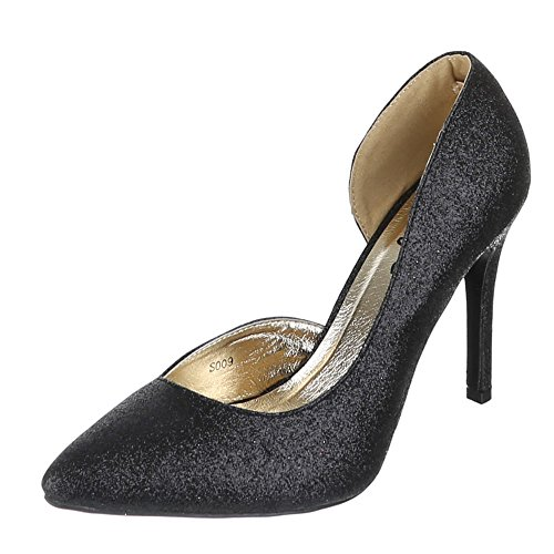 Ital-Design Donna pantofole Nero