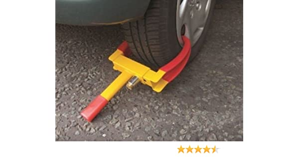 NEW HIGH SECURITY CAR CARAVAN TRAILER BOAT WHEEL CLAMP