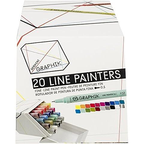Derwent Graphik Line Painter Coloured Pens - Set of