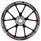 Motosticker Kompatibel für Motorrad Felgenaufkleber SpecialGP Rot Komplett Aufkleber Aufkleber BMW S1000RR