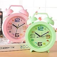 Creative Candy-campana colorata sveglia alta puntatore orologio in plastica dello studente posto letto camera da letto orologio quando l'uomo folle sveglia