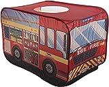 Bieco 22008153 - Pop-up Spielzelt Feuerwehrauto, rot, ca. 110 x 70 x 70 cm