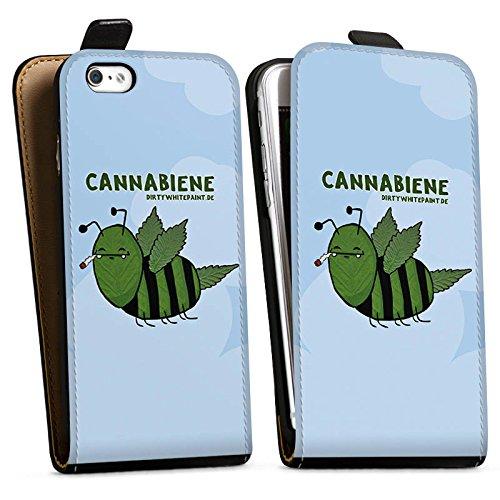 Apple iPhone X Silikon Hülle Case Schutzhülle DirtyWhitePaint Fanartikel Merchandise Cannabiene Downflip Tasche schwarz