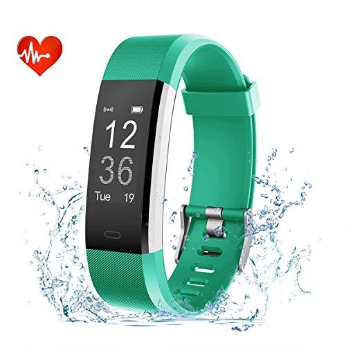 nd Wasserdicht Schrittzähler Fitness Tracker mit Pulsmesser Sport Uhr Pulsuhren Health Watch fur Android IOS Handy ()