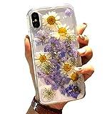 Sweau Compatible avec iPhone XR Coque Silicone Étui de téléphone à Fleurs...