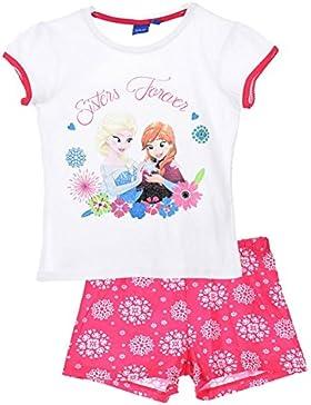 Disney Frozen Anna Elsa Mädchen Sommer Pyjamas / PJs / Shortie.