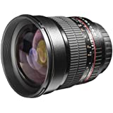 Walimex Pro 85mm 1:1,4 DSLR-Objektiv (Filtergewinde 72mm, IF, AS und ED-Linsen) für Pentax K Objektivbajonett schwarz