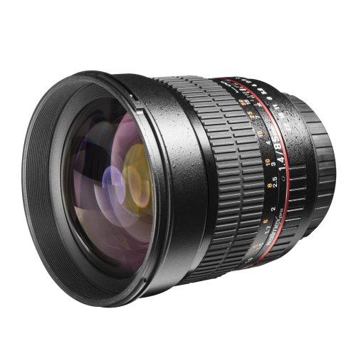 Walimex Pro 85 mm 1:1.4 DSLR-Objektiv AE (Filterdurchmesser 72 mm, mit abnehmbarer Gegenlichtblende) für Nikon F Objektivbajonett schwarz