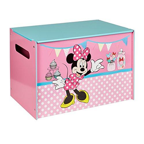 WA Disney Minnie Maus Spielzeugkiste Holz Toy Box Spielebox Kinderregal Regal (Minnie Spielzeugkiste)