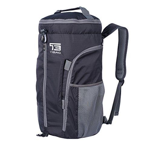 TB 35L/40L faltbare leichte Sporttasche, Tagestasche, wasserfeste Reisetasche, Rucksack, Sporttasche, Herren, schwarz, 35L (Jungen Jugend Golf-clubs)