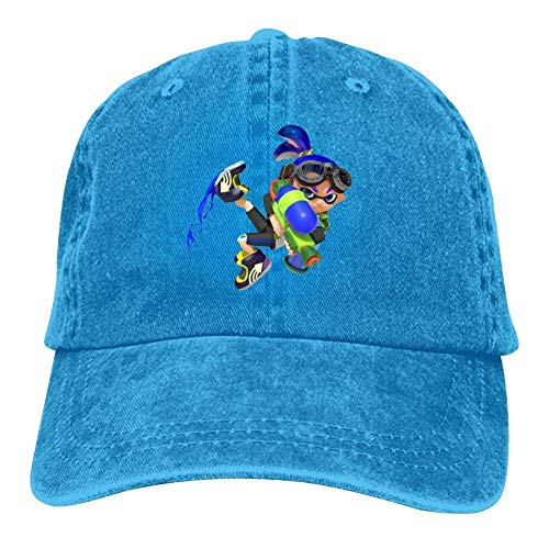 Preisvergleich Produktbild UUOnly Blue Inkling Splatoon 2 Erwachsene Männer Frauen Einstellbare Snapback Mesh Hats Caps