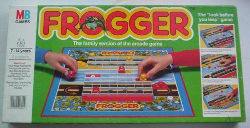 Original MB Games Frogger - used board game for collector's