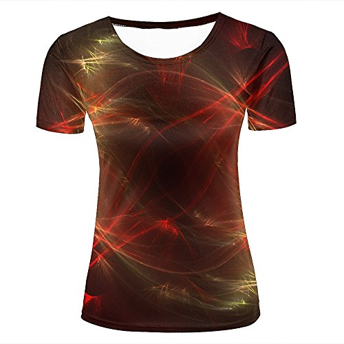 Eurapping Damen Fashion T Shirt 3D Print Fiber Sparkles Creative Abstract Unisex Couple Short Sleeve Tees Top S (Tee Abstract Print)