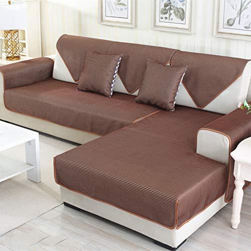 YYRZGW Gesteppter Möbelschutz für Sofa, Loveseat, Recliner, Stuhl - Schonbezug für Haustiere und Kinder, Rückenlehne und Armlehne separat erhältlich - Kaffeefarbe-70x70cm-Kaffeefarbe -