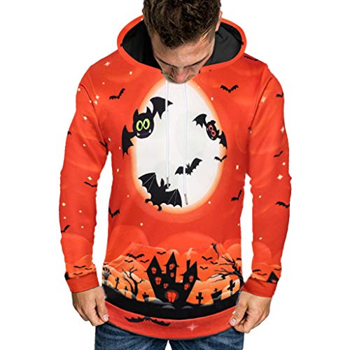 VBWER Herren Langarm Kapuzenpullover Männer Hoodie Kapuzen Sweatshirt Top Tee Outwear Bluse Freizeit Jacke Mantel - Gruppe Winnie The Pooh Kostüm
