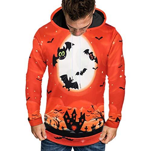 VBWER Herren Langarm Kapuzenpullover Männer Hoodie Kapuzen Sweatshirt Top Tee Outwear Bluse Freizeit Jacke Mantel Outwear (Gruppe Winnie The Pooh Kostüm)