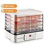 Food Dehydrator, Electric Digital Food Dehydrator Machine for Jerky, Fruit, Vegetables & Nuts