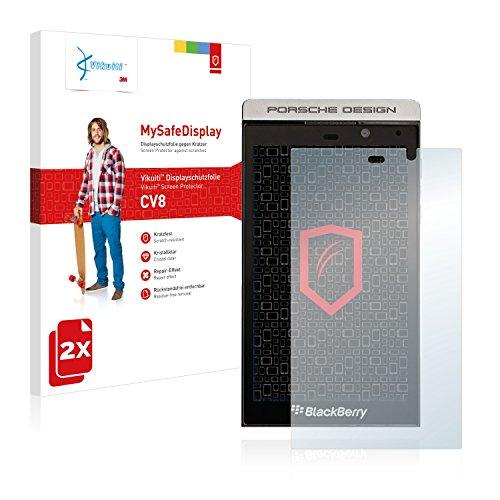 Vikuiti 2X Bildschirmschutzfolie CV8 von 3M kompatibel mit BlackBerry P9982 Porsche Design Schutzfolie Folie